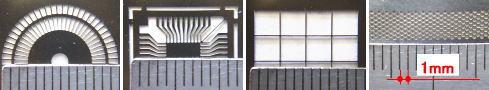 薄板金属のフォトレジストエッチングによる精密加工サンプル