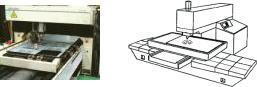 レーザー加工機(切断機)の参考写真・模式図