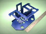 アルミ板 A5052P t2.0 青色カラーアルマイト