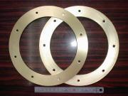 スピーカ自作用マウントベース 真鍮板 C2801P t3.0|個人様向け精密板金加工部品写真