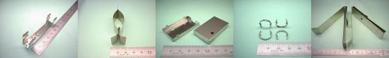 SUS304-CSP ステンレスばね材等-板金加工・板バネ加工例