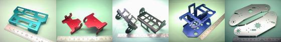 二足歩行ロボット部品の板金製作例